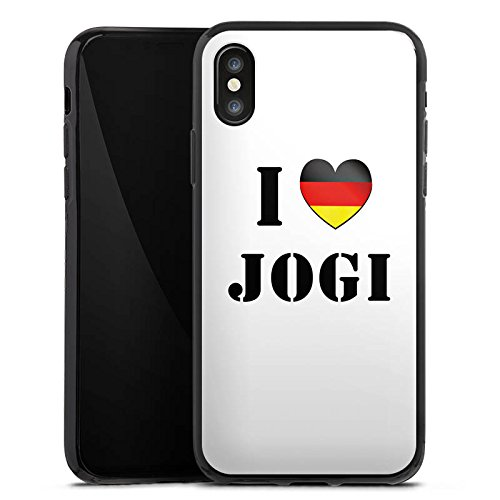 Apple iPhone X Silikon Hülle Case Schutzhülle Joachim Löw I Love Jogi Fußball Silikon Case schwarz