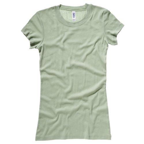 Bella + Canvas - Maglietta Girocollo a Costine - Donna Verde muschio