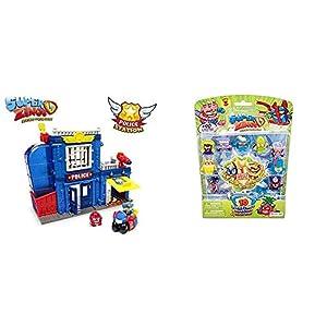 SUPERZINGS Estación De Policía, con 2 exclusivas Figuras Serie 3 Blíster 10 Figuras (1 Figura Dorada y 9 Figuras Regulares)