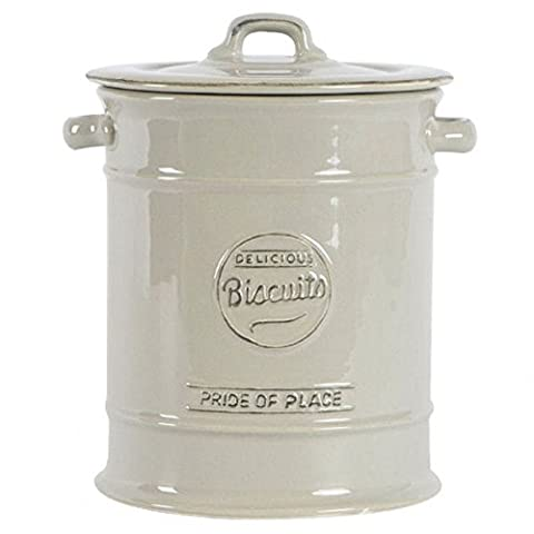 T&G Woodware Pride of Place Ceramic Biscuit Jar in Cool