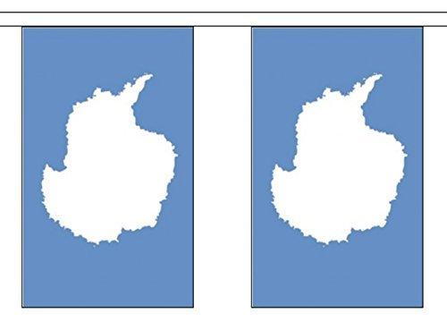 Antarctique polyester BRUANT de Drapeau 9M (30') bannière avec 30 DRAPEAUX