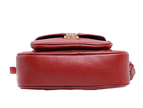 SAIERLONG Nuovo Donna Rose Red Pelle Bovina Genuina Borse Crossbody Sacchetti di spalla Blu
