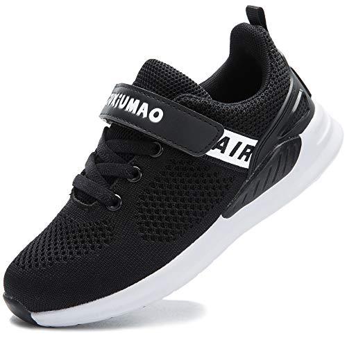 GUFANSI Turnschuhe Jungen Sportschuhe Mädchen Hallenschuhe Kinder Kinderschuhe Sneaker Outdoor Laufschuhe für Unisex-Kinder Schuhe, Schwarz, 32 (Schuhe Schwarz Für Kinder)