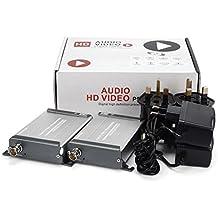 Mirabox extensor HDMI sobre sola RG59/RG-6U coaxial cable 1080p 200 M (656ft) sin pérdida no-delay para DVR, DVD, cine en casa (ARX379)
