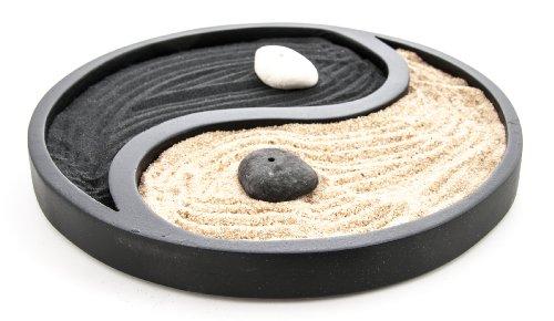 Berk KH-886 Feng Shui – Jardín Zen Yin Yang, color negro