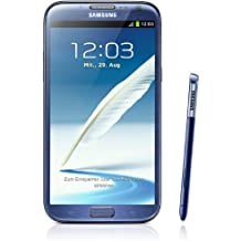 Samsung Galaxy Note II N7100 Smartphone, 16GB, schermo touchscreen AMOLED 5,5'', Quad-core, 1,6GHz, fotocamera 8 Megapixel, Android 4.1, Blu [Germania]