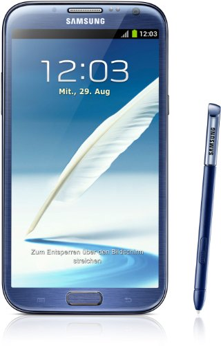 Samsung Galaxy Note II N7100 Smartphone 16GB (14 cm (5,5 Zoll) AMOLED-Touchscreen, Quad-core, 1,6GHz, 8 Megapixel Kamera, Android 4.1) blue