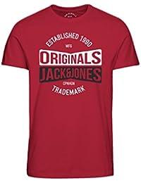 JACK   JONES Herren T-Shirt Rundhals Print Basic Shirt Mix fb4bd8a5e7