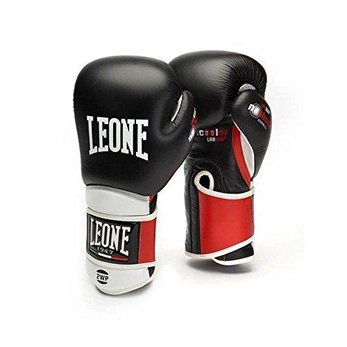 LEONE 1947 Technischen, Boxhandschuhe Boxhandschuhe Unisex Erwachsene, unisex - erwachsene, Il Tecnico, schwarz, 14OZ (Doppel-manschette Leder Handschuhe)