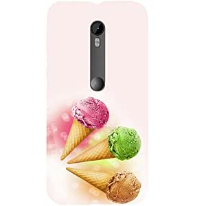 Casotec Ice Cream Cones Design Hard Back Case Cover for Motorola Moto G 3rd Generation