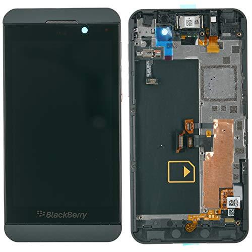 Blackberry Z10 Display Displaymodul LCD Anzeige + Touchscreen + Glas Scheibe + Rahmen + Hörer + Mikrofon 4G Europa, schwarz Touchscreen-blackberry