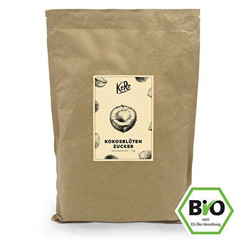 Low Carb Kaffee Sirup (KoRo ● BIO Kokosblütenzucker ● Haushaltszucker Alternative ● Naturbelassen ● Zusatzfrei ● Unraffiniert ● Kokoszucker ● Kokos ● 1 kg)