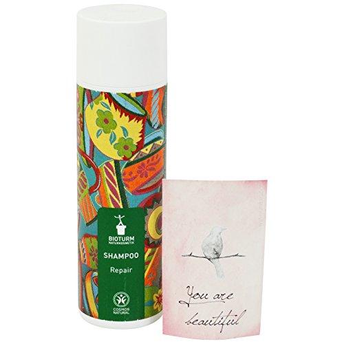 BIOTURM - Shampoo Riparatore con Estratto di Tiglio ed Avena - Ideale per Capelli Secchi e Danneggiati
