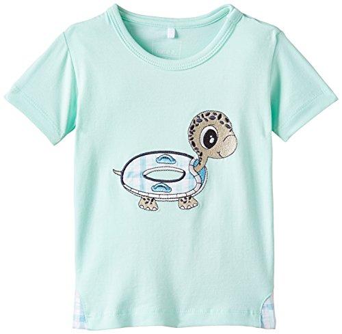 Name It Idol NB So SS Top 215 - T-Shirt - Bébé garçon - Turquoise (Yucca) - 2 Mois (Taille Fabricant: 56)