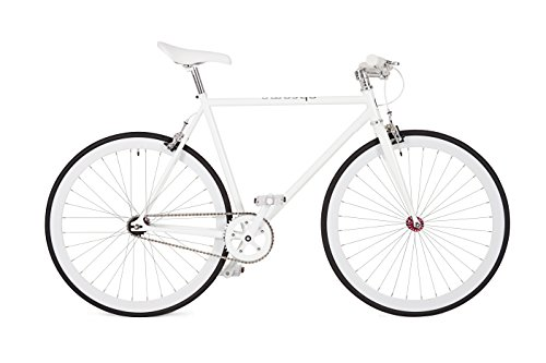 WHITE FIXIE CHROMA BIKE PURE URBAN