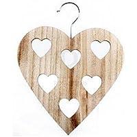 Shabby Chic Wooden Scarf Scarves Hanger Wardrobe Hanger Hearts