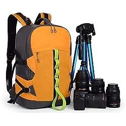 Sac à dos étanche for appareil photo reflex de voyage, sac photo compact et antichoc de grande capacité, adapté aux objectifs et aux trépieds-31 * 19 * 48CM Sac à dos orange produit de plein air