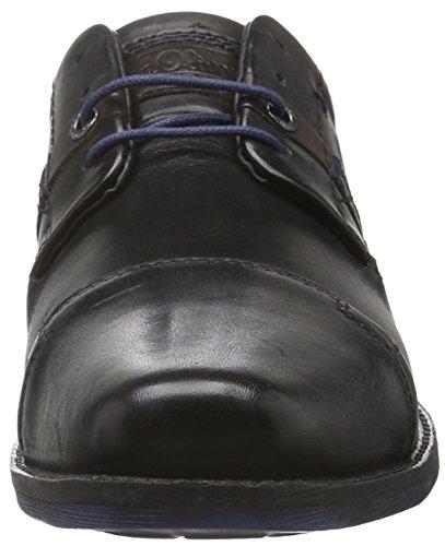 s.Oliver 13209, Scarpe Stringate Basse Oxford Uomo Nero (BLACK 1)