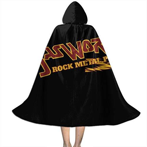 NUJSHF Gasworks Rock Metal Punk Waynes World Unisex Kapuzenumhang Cape Halloween Weihnachten Party Dekoration Rolle Cosplay - Wayne's World Kostüm Kinder