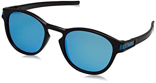 Oakley Herren Sonnenbrille Latch 926530, Schwarz (Matte Black/Prizmsapphire), 53