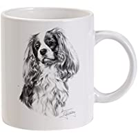 Mike Sibley Tazza Cavalier King Charles Spaniel, colore: bianco