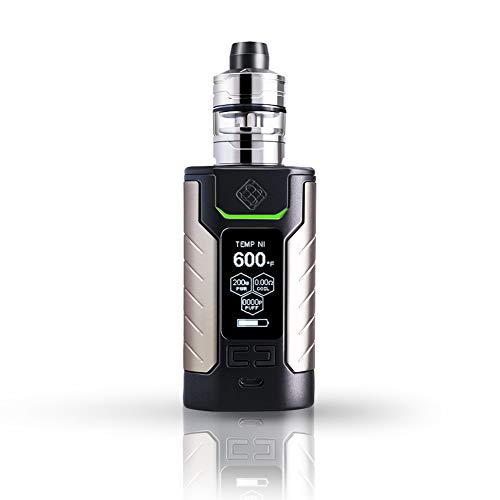 Wismec sinuous fj200 set sigaretta elettronica di con divisore vaporizzatore tc mod box built-in 4600mah capacità della batteria 2ml volume serbatoio, senza nicotina (nero)