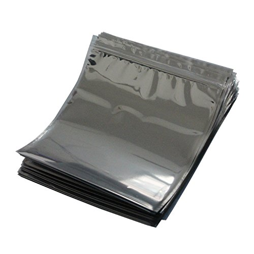 Preisvergleich Produktbild LJY 50 Stück Antistatische Resealable Large Size Taschen für Motherboard HDD und elektronisches Gerät, 21cm x 24cm