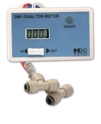 Preisvergleich Produktbild Messgerät zur Überprüfung der Wasserqualität. TDS Monitor Messtechnik DM-1 Dual Inline. HM Digital Original!