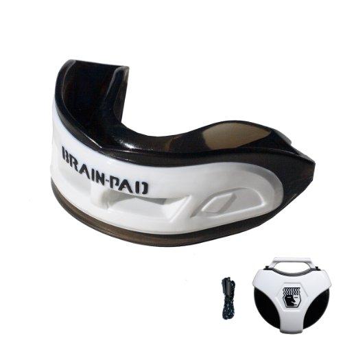 Brain-Pad 3XS  Gebissschutz / Kiefergelenkschutz mit doppeltem Bogen für Erwachsene - weiß / schwarz, Einheitsgröße