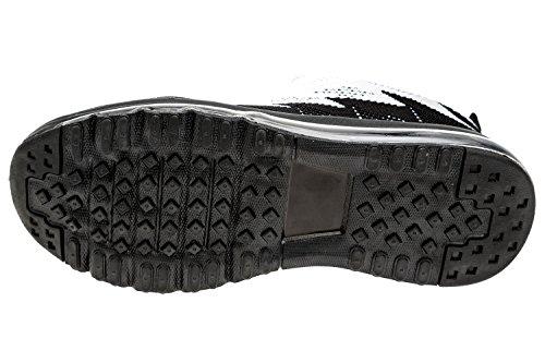 Gibra Men Sneaker Scarpe Sportive, Art. 9037, Molto Leggero E Confortevole, Nero / Grigio / Bianco, Taglia 41-46 Nero / Grigio / Bianco