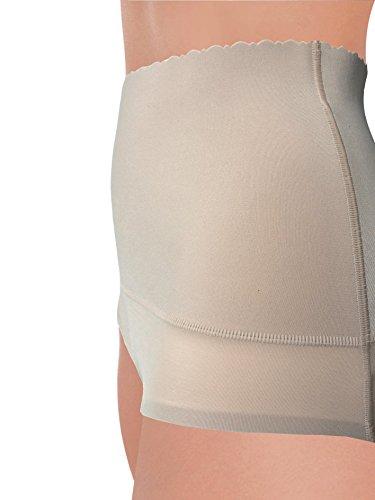 Guaina Contenitiva e Modellante G3010 con Fascia in Microfibra Elastica sull'Addome con Azione Riducente su Pancia, Bordo Girogamba ultrapiatto Nudo