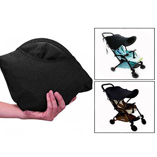 Ofkpo parasole universale per passeggino e carrozzina - protezione raggi uv copertura (nero)