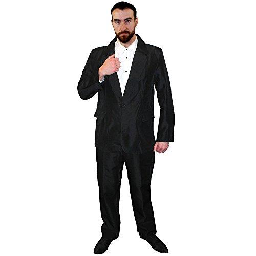I love Fancy Dress ilfd4445X L Erwachsene Anzug Kostüm, schwarz, X-Large