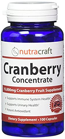 Triple Strength Cranberry Extract Supplement For Bladder & Urinary Tract