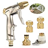 TIMESETL Garden Hose Spray Gun - High Pressure Spray Watering Gun with Full