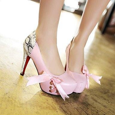 LFNLYX Talons pour femmes Printemps Été Automne Hiver Club Chaussures Cuirette Bureau et carrière Robe de soirée et soirée Stiletto Heel BowknotBlack Pink Pink