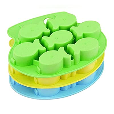 Fish Mold Silicone Ice Cube Tray Tools Chocolate Ice Mould color random Diy Lovely Freeze Bar from Luwu-Store