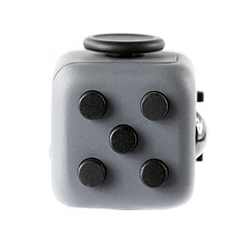 Decompression Fidget Cube Anti – Irritability Anxiety Decompression Dice Vent Artifact Creative Toys Gifts 6 colors (Gray Red) - 2