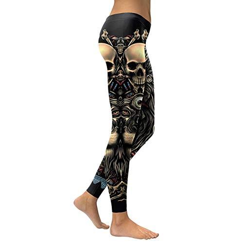 YUJIAKU Leggings Cabeza de Calavera 3D Leggins para Mujer Chica...
