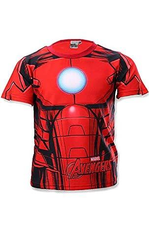 Iron Man T-shirt Costume - Avengers Capt America Ironman Costume garçons Hulk