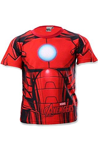 Avengers Kapitän America Ironman Hulk Jungen Kostüm-Druck-T-Shirt Top Alter 3 bis 8 (Shirt Man Iron Kostüme)