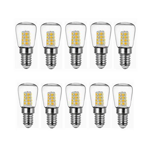Ophelia Geführte Birnen 2W E14 Kühlschrank LED Birne AC220V Helle Innenlampe for Kühlraum-Gefriermaschine-Kristallleuchter, die Glühlampen beleuchten Glühlampe mit 10 Sätzen LED-Glühbirne