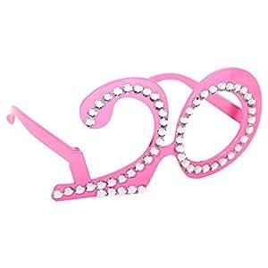 CREATIVE Partido Gafas Gafas 20 años Pink Rhinestone