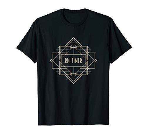 Roaring 20er Jahre Art Deco 20er Jahre Big Timer Kostüm T-Shirt