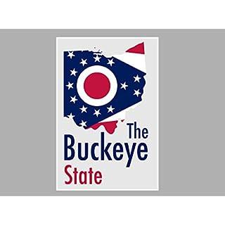 ArtsyCanvas Ohio-the Buckeye State Map Flag (Poster), 24 x 16