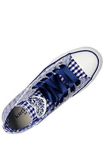 Krüger Madl Sneaker Floret, Baskets hautes femme Bleu - Blau (blau 8)