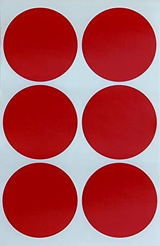Farbigen rund 5,1cm Zoll Aufkleber (50mm) Dot Etiketten, verschiedene Farben: rot, blau, grün, gelb, lila, orange, braun und pink–Easy Peel Aufkleber 48Etiketten Pack...