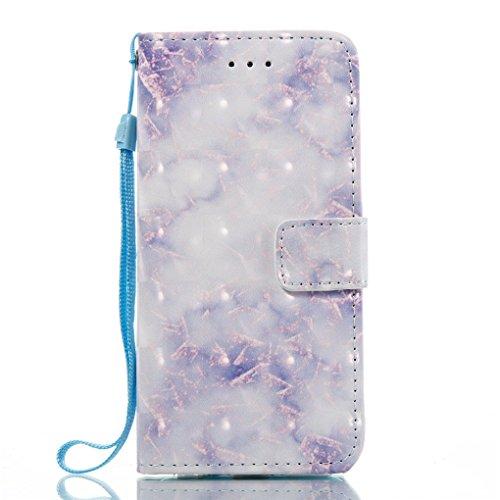 Apple iPhone 6 6S Hülle, SATURCASE Einzigartig 3D Stein Muster PU Lederhülle Ledertasche Magnetverschluss Flip Cover Brieftasche Case Handy Tasche Schutzhülle Handyhülle Hülle mit Standfunktion Karten Muster-6