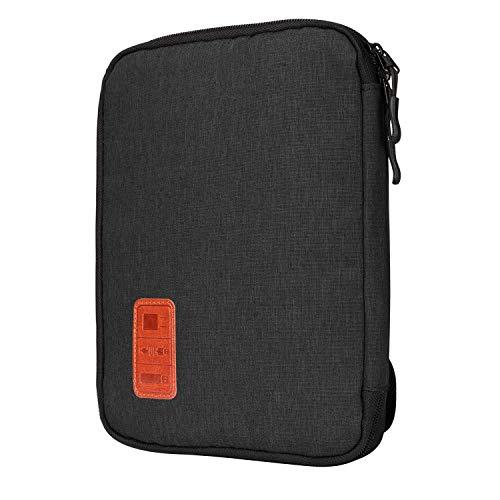 Jamber universal travel Kabel Organizer Tasche elektronische Accessoires tragen Fall karton mit 5 x kabelbinder,Schwarz Gadget Tasche
