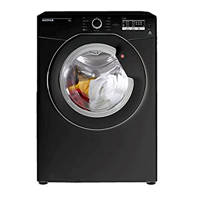 Hoover HLV9DGB-80 9kg C Rated Sensor Vented Tumble Dryer in Black by Hoover